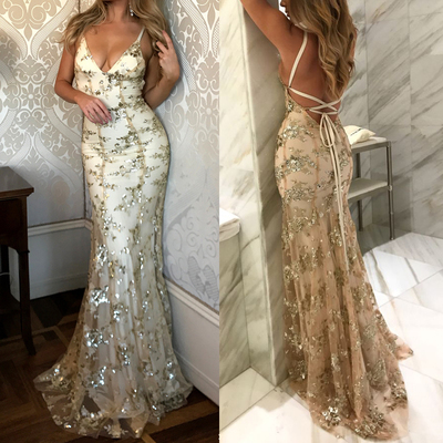 Gorgeous prom dress, open back prom..