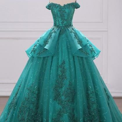 Long Court Prom Dress, Formal Lace ..