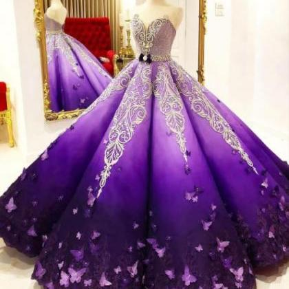 Sweetheart Ball Gown Prom Dresses S..