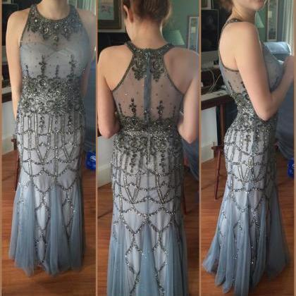 Charming Prom Dress,O-Neck Prom Dre..
