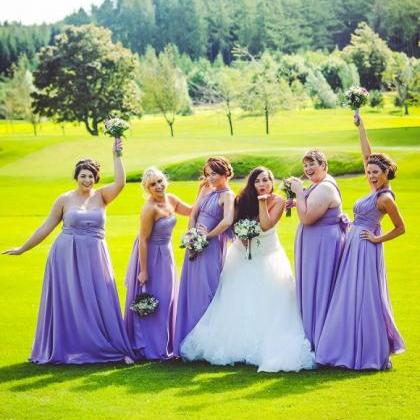 Hot Sale Purple Bridesmaid Dress , ..