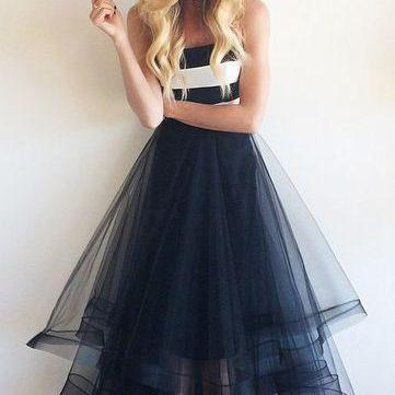 Charming Prom Dress,Tulle Prom Dress,A-Line Prom Dress,Strapless Prom Dress,Floor-Length Prom Dress,PD1700420