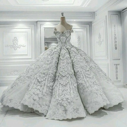 ca70a4c2c99 Long Floor Length ball gown quinceanera dresses Evening Dresses Glamorous  Prom Dress White Graduaction Dresses