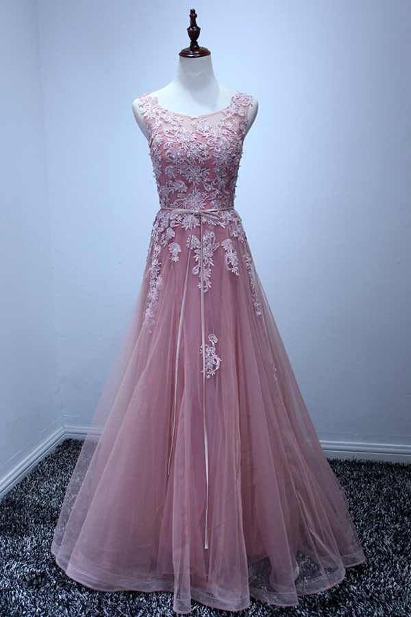 High Quality Prom Dress,Tulle Prom Dress,A-Line Prom Dress,Appliques Prom Dress,PD1700187