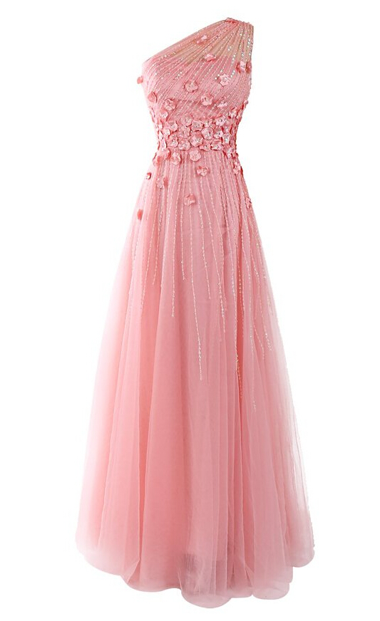High Quality Prom Dress,A-Line Prom Dress,Chiffon Prom Dress,One-Shoulder Prom Dress, Beading Prom Dress,PD1700249