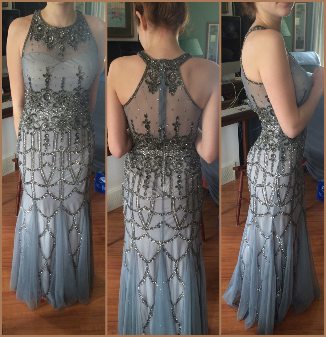 Charming Prom Dress,O-Neck Prom Dress,Mermaid Prom Dress,Sequined Prom Dress,Tulle Prom Dress,PD1700480