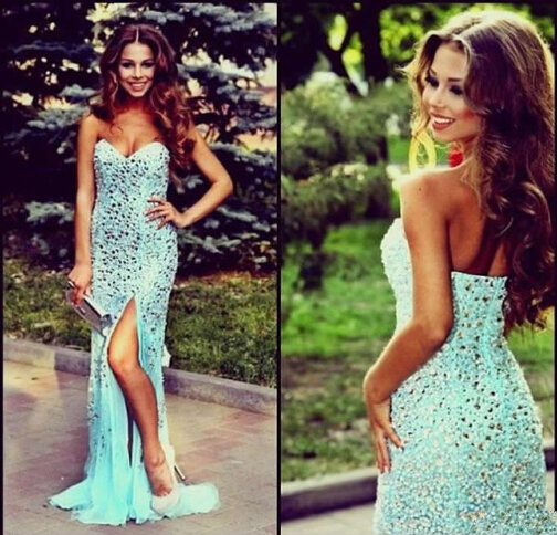Charming Prom Dress,Sequined Prom Dress,Mermaid Prom Dress,Strapless Prom Dress,Sexy Prom Dress,PD1700511
