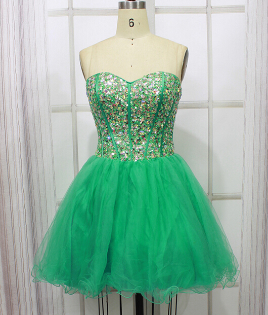 High Quality Homecoming Dress,Beading Homecoming Dress,Sweetheart Graduation Dress,Tulle Prom Dress,PD160846