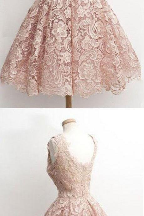 Charming Homecoming Dresses,Pink prom Dresses,lace up prom Dresses, Juniors Homecoming Dresses