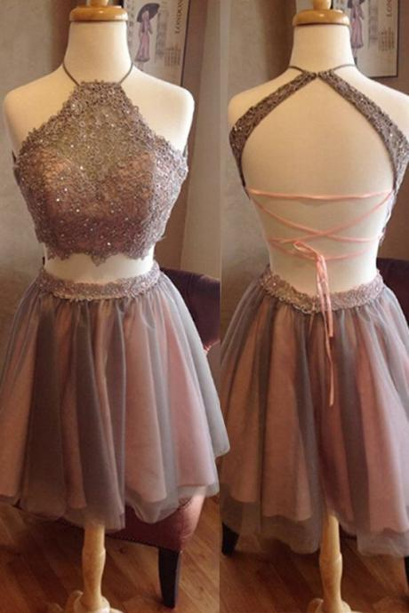 Charming Homecoming Dresses,sequins prom Dresses,two pieces prom Dresses, Juniors Homecoming Dresses