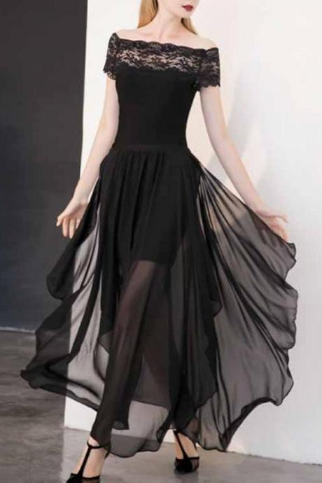 A-line Prom Dress,Sexy Prom Dress,Off the Shoulder Prom Dress,Long Black Prom Dress, Sexy Prom Dress,Sexy Party Dress