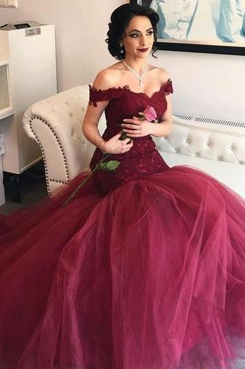 Mermaid Prom Dresses,Off-shoulder Prom Dress,Elegant Prom Dresses,New Arrival Prom Dress,Cheap Prom Dress