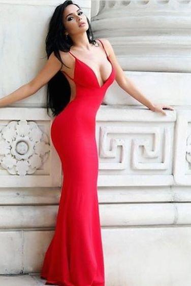 Prom Dresses,Prom Dress,Sleeveless Prom Dresses,Red Evening Dress,Sexy Long Prom Dresses,Mermaid Prom Dresses,Prom Dresses Long Backless