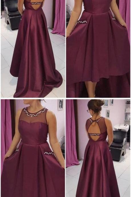 O-Neck Beading A-Line Prom Dresses,Long Prom Dresses,Cheap Prom Dresses, Evening Dress Prom Gowns, Formal Women Dress,Prom Dress