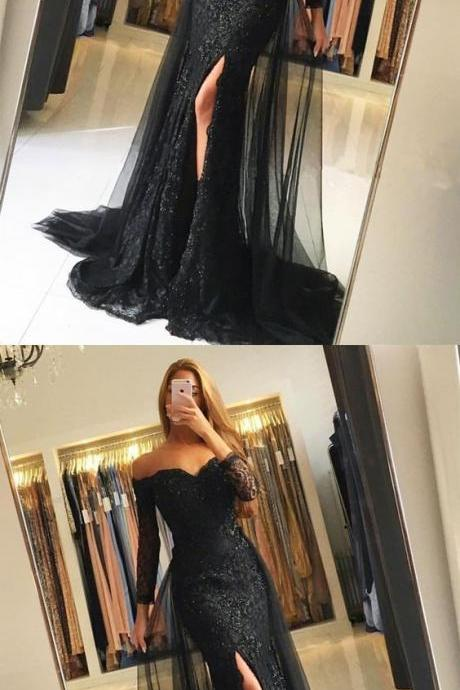 2018 New Arrival Prom Dress,Sexy Prom Dress,V-Neck Prom Dress,Appliques Prom Dress,A-Line prom Dress.Long Prom Dress,Evening Dress
