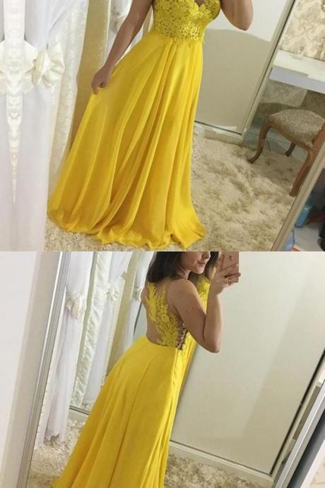 Elegant Appliques A-Line Prom Dresses,Long Prom Dresses,Cheap Prom Dresses, Evening Dress Prom Gowns, Formal Women Dress,Prom Dress