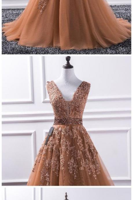 Tulle Ball Gown Prom Dress, Formal Evening Dress, Women Dress