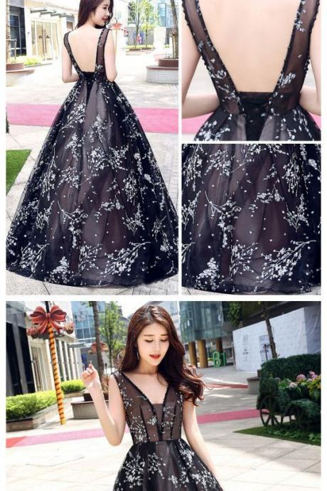 Stunning Prom Dress, Prom Evening Dress,ball gown Prom Dress, Long Prom Evening Dress