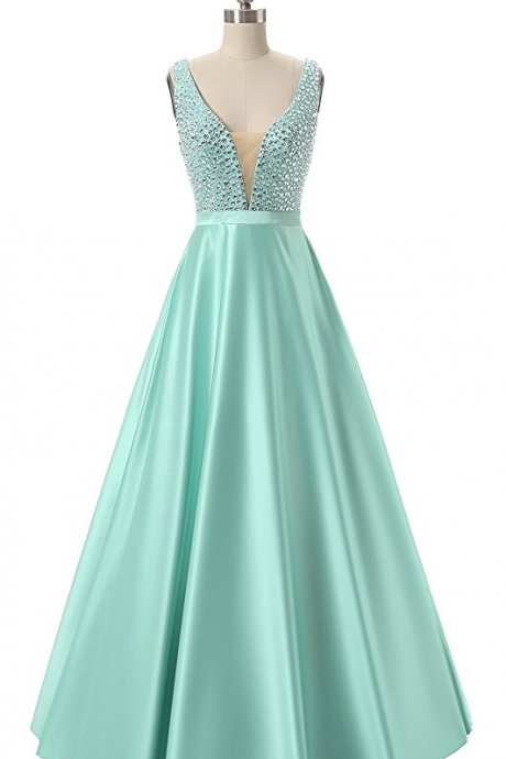 Charming Beading Prom Dress,Long Prom Dresses,Prom Dresses,Evening Dress, Prom Gowns, Formal Women Dress