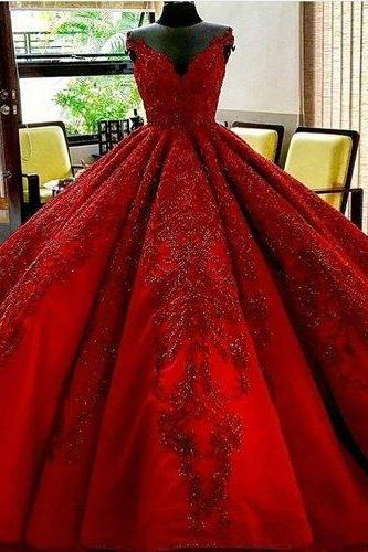 Long Floor Length ball gown quinceanera dresses Evening Dresses Glamorous Prom Dress burgundy Graduaction Dresses