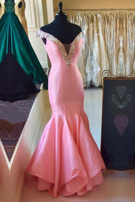 Sexy Sleeveless Prom Dress, Strapless Flower Tulle Ball Gown Prom Dresses, Formal Evening Dress
