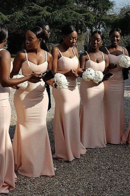 Bridesmaid Dresses Mermaid, Pink Bridesmaid Dresses,BW92243