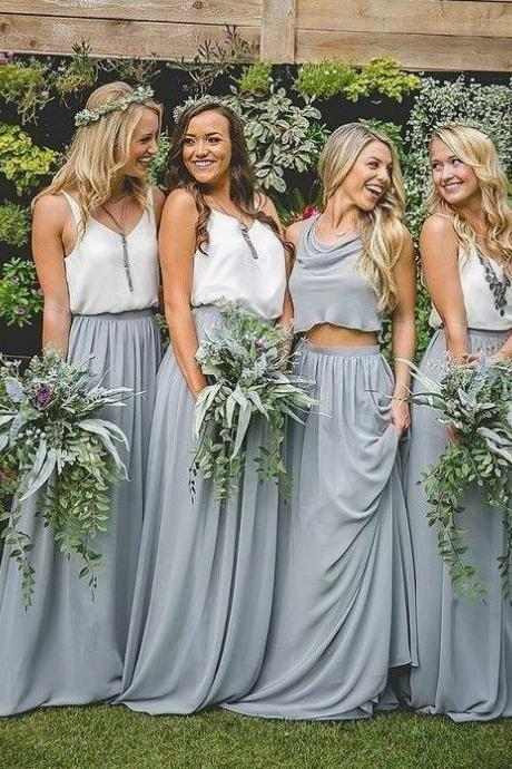 Boho Style Chiffon Bridesmaids Dresses, Charming Cheap Bridesmaids Dresses,BW92777