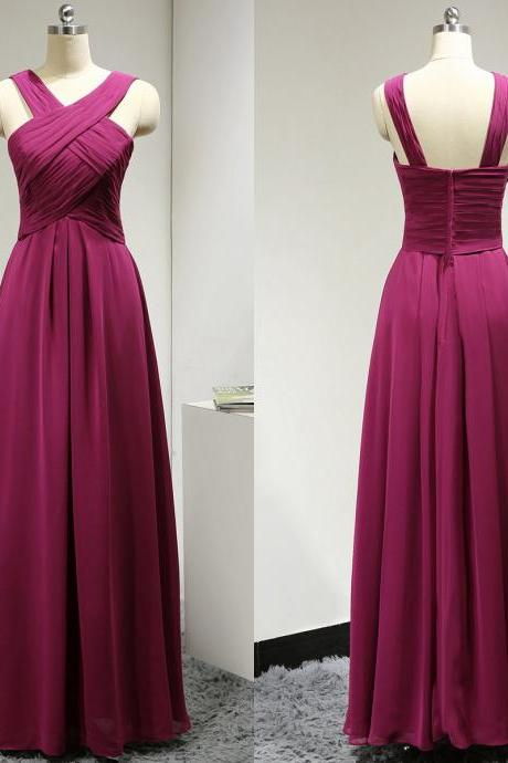 Halter A-line Bridesmaid Dress with Ruching Detail, V-neck light Purple Bridesmaid Gowns,BW92813