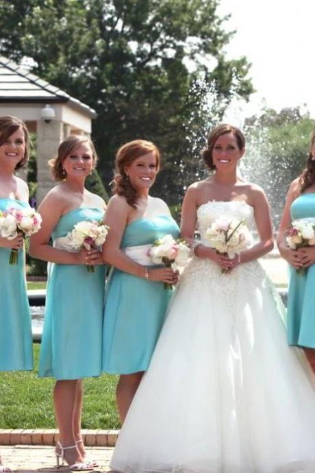 Strapless Bridesmaid Dresses,Short Bridesmaid Dresses,BW93137