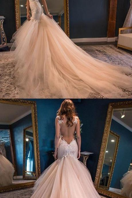 Charming Sweetheart Unique Bridal Inexpensive Long Wedding Dresses,BW93437