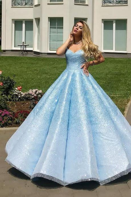 Long Prom Dresses,Sweetheart Quinceanera Dresses,Sequins Quinceanera Dresses, BW93727