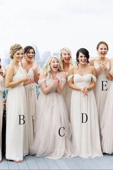 Mismatched Chiffon Long Bridesmaid Dress, BW9386711