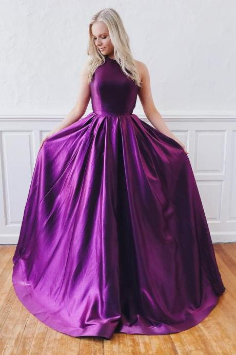 Charming Purple Prom Dress,Long Purple Formal Dress, BW93945