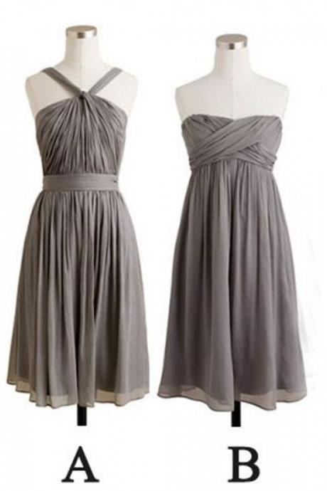 Bridesmaid Dresses Short, Bridesmaid Dresses A-Line, Grey Bridesmaid Dresses, Simple Bridesmaid Dresses, BW94201