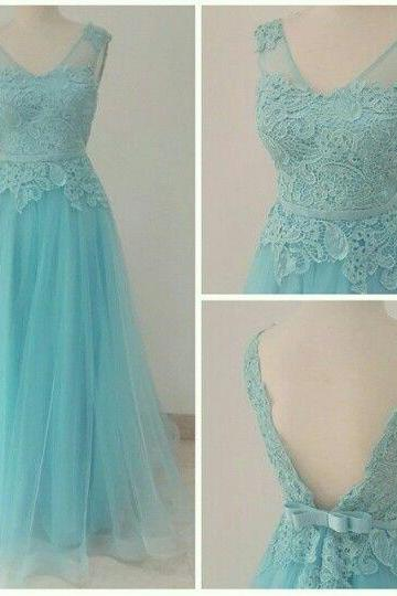 Charming Prom Dress,V-Neck Prom Dress,Noble Prom Dress,Tulle Prom Dress,A-Line Evening Dress,PD1700020