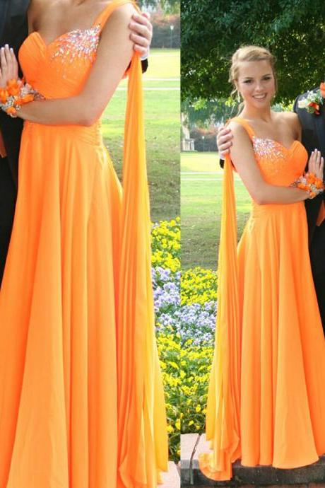 Charming Prom Dress,Sweetheart Prom Dress,A-Line Prom Dress,Chiffon Prom Dress,One-Shoulder Prom Dress,PD1700081