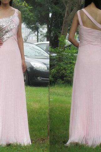 Charming Prom Dress,Chiffon Prom Dress,One-Shoulder Prom Dress,Sequined Prom Dress,A-Line Prom Dress,PD1700092