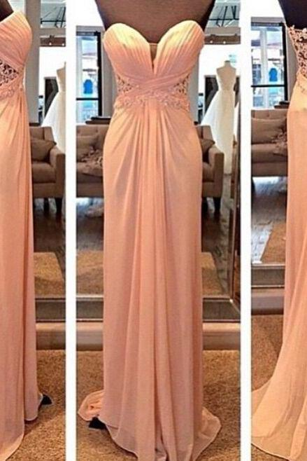 Charming Prom Dress,Chiffon Prom Dress,Lace Prom Dress,Sweetheart Prom Dress,Floor-Length Prom Dress,PD1700148
