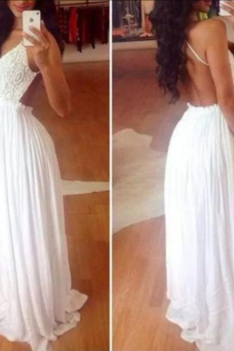 High Quality Prom Dress,Chiffon Prom Dress,A-Line Prom Dress,Backless Prom Dress,V-Neck Prom Dress,PD1700154