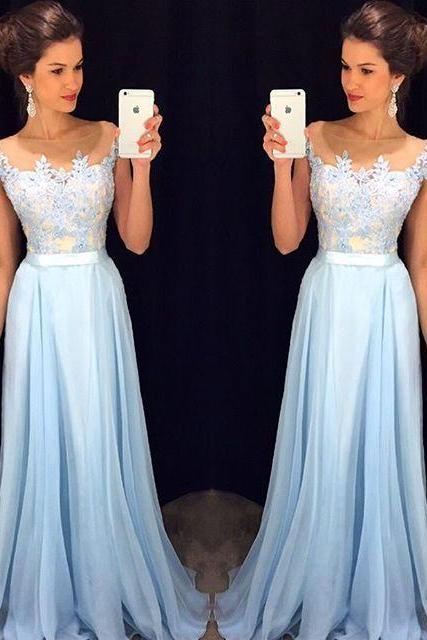 High Quality Prom Dress,Chiffon Prom Dress,A-Line Prom Dress,Charming Prom Dress,Appliques Prom Dress,PD1700169
