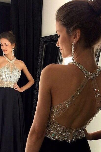 High Quality Prom Dress,A-Line Prom Dress,Chiffon Prom Dress,Charming Prom Dress, Beading Prom Dress,PD1700171