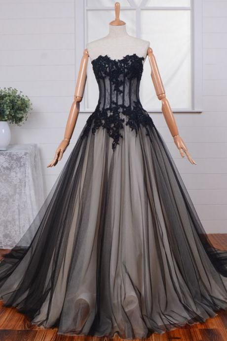 High Quality Prom Dress,A-Line Prom Dress,Tulle Prom Dress,Sweetheart Prom Dress, Appliques Prom Dress,PD1700184