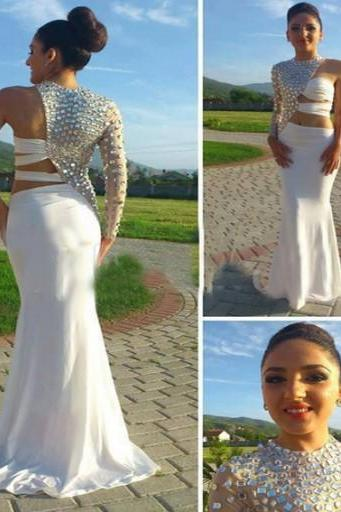 High Quality Prom Dress,One-Shoulder Prom Dress,Beading Prom Dress,Chiffon Prom Dress, Charming Prom Dress,PD1700193