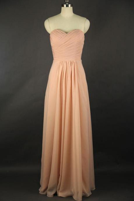 High Quality Prom Dress,A-Line Prom Dress,Chiffon Prom Dress,Sweetheart Prom Dress, Pleat Prom Dress,PD1700206