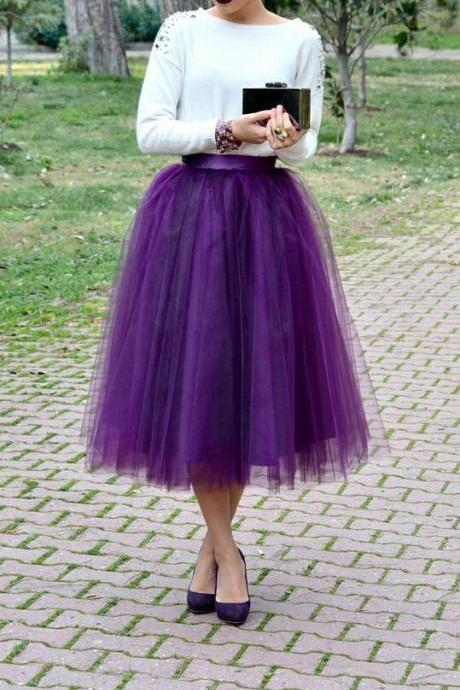 Charming Women Skirt,Tulle Skirt,Spring/Autumn Skirt,Fashion Street Style Skirt,PD1700207