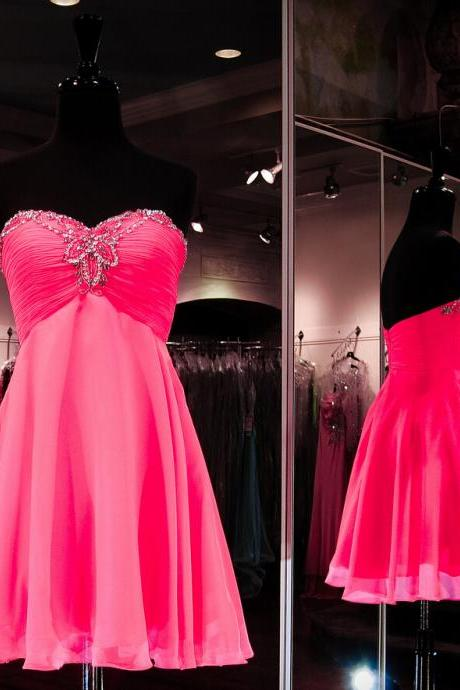 Charming Homecoming Dress,Chiffon Homecoming Dress,Sweetheart Homecoming Dress,Beading Homecoming Dress,PD1700220