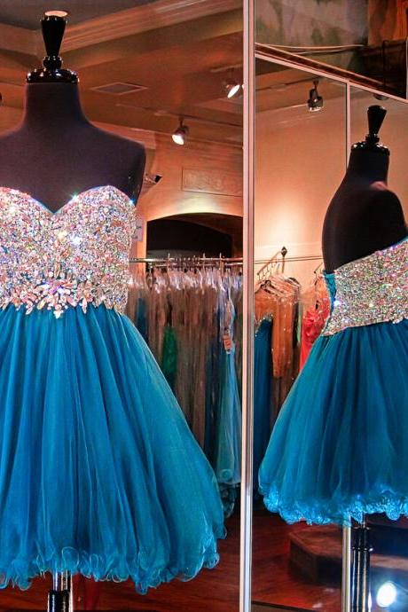 Charming Homecoming Dress,Organza Homecoming Dress,Sweetheart Homecoming Dress,Beading Homecoming Dress,PD1700222