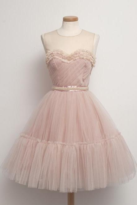 Charming Homecoming Dress,Tulle Homecoming Dress,O-Neck Homecoming Dress,Noble Homecoming Dress,PD1700261