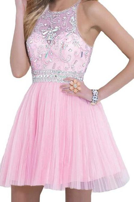 Charming Homecoming Dress,Chiffon Homecoming Dress,Beading Homecoming Dress, Short Cute Homecoming Dress,PD1700278