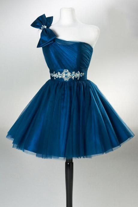 Charming Homecoming Dress,Tulle Homecoming Dress,One-Shoulder Homecoming Dress, Short Noble Homecoming Dress,PD1700295